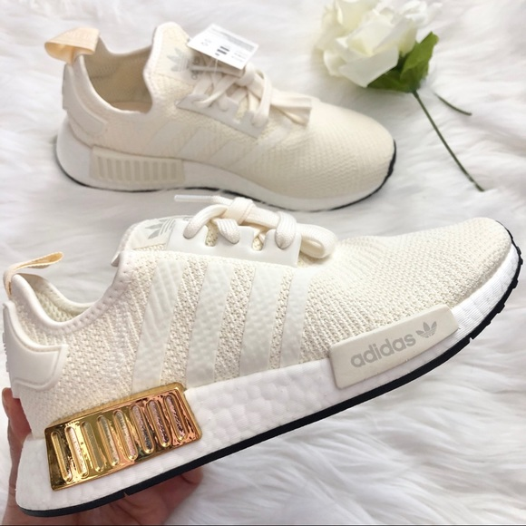 Adidas Shoes Nwt Rare White And Gold Nmdr1 Poshmark